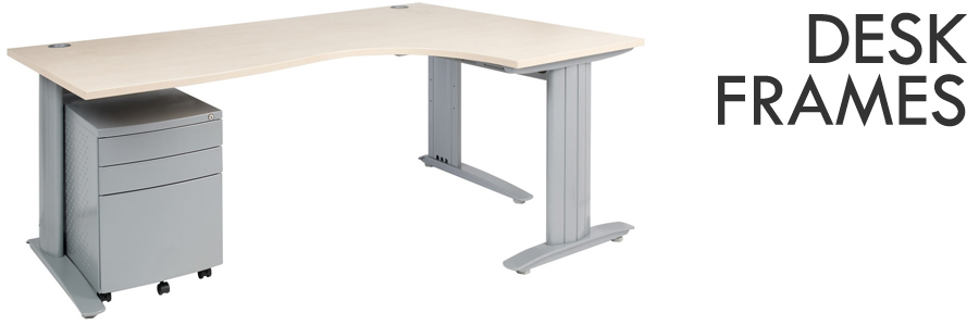 our range of furniture desk frames offer solutions for offices of varying sizes shapes and styles our popular c shaped desk frame is used by some of the
