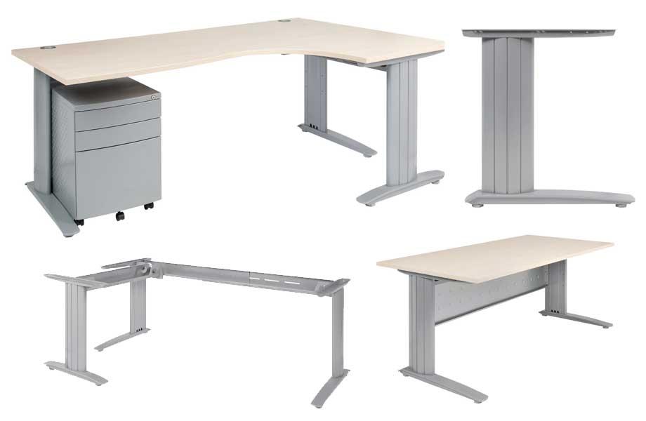 C Style Corner Desk Frame Sydney Desk System Euro Fit